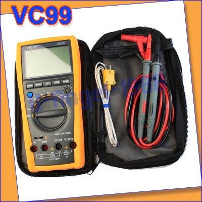 Vichy VC99 3 6/7 Auto range digital multimeter with bag better FLUKE 17B Vici VC99+free shipping(China (Mainland))