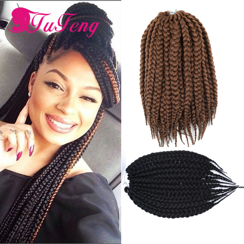 Crochet Box Braids 12 Inch : Hot crochet box braids hair extensions 12 14 inch senegalese crochet ...
