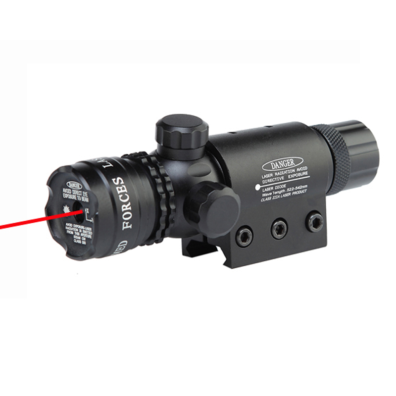 5mW Tactical Red Laser Designator Hunting Dot Sight With High Bright Red Laser Beam 21mm Rail Mount And Tail Line Switch.(China (Mainland))