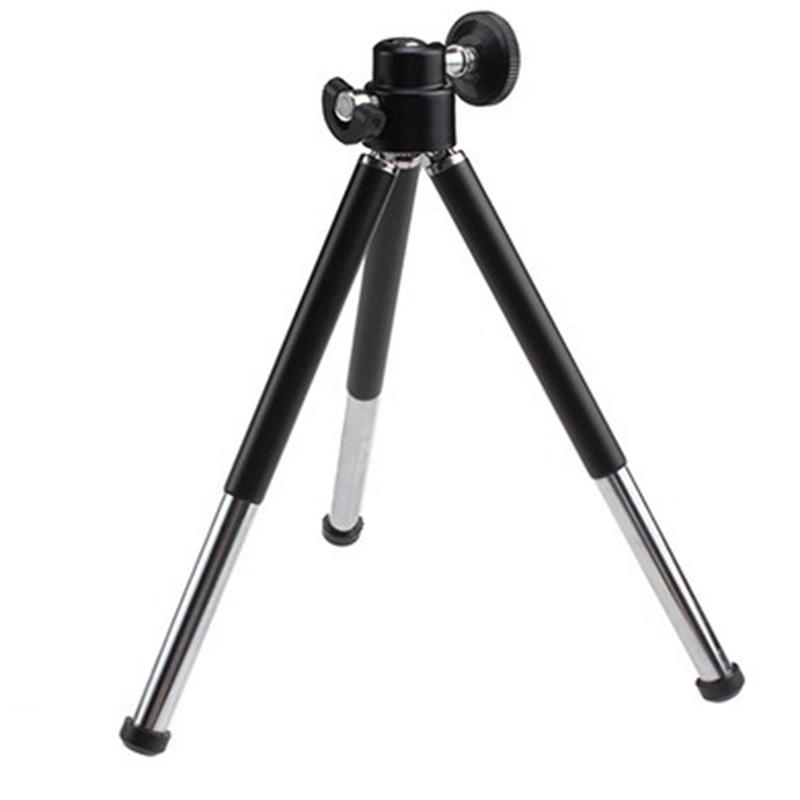 1pcs black Mini Tripod Aluminum Metal Lightweight Tripod Stand Mount For Digital Camera Webcam Phone DV Tripod(China (Mainland))
