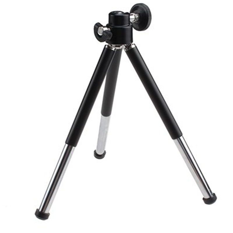 Free shipping 1pcs black Mini Tripod Aluminum Metal Lightweight Tripod Stand Mount For Digital Camera Webcam Phone DV Tripod(China (Mainland))