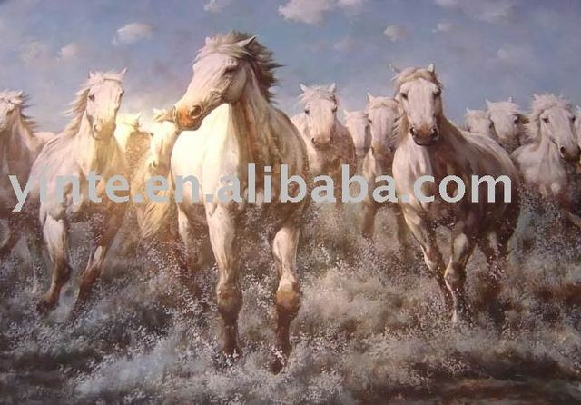FREE SHIPPING horse oil painting