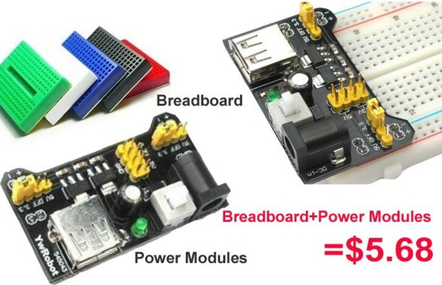 Special promotions 1lot= Breadboard Power Supply Module 3.3V/5V + 830 Tie Point Breadboard Excellent MB-102 kit in stock
