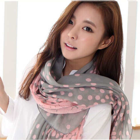 Бесплатная доставка новых горячих женщин мыс осень зима нью-париж пряжи шарф обруч шали градиент плотности мода печатных шарфы 001