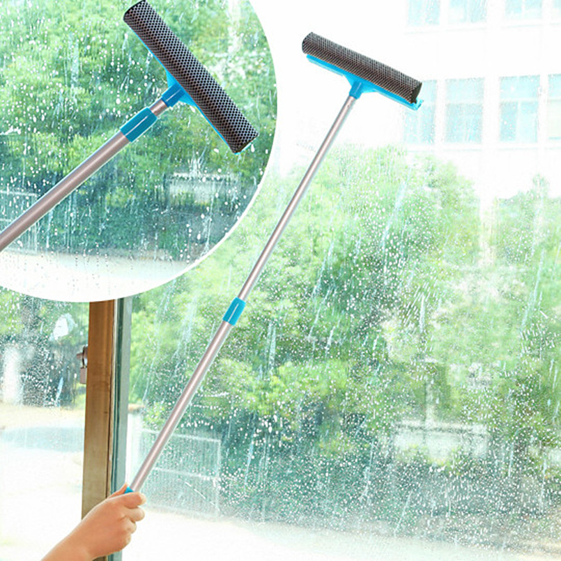 window cleaning bushes cleaning tool stretchable cleaning scourer detachable double side cleaning brushes aluminum window brush(China (Mainland))