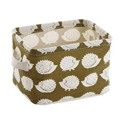 Fresh printing cotton belt handle the desktop debris storage baskets small cabinets clothing fabric storage basket