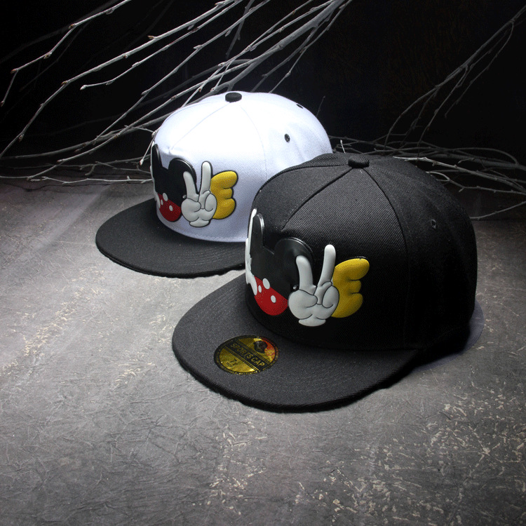 Summer Style 2015 Casual Rubber FInger Mouse Printed Snapbacks Dance Caps Hip Hop Hats Beisbol Baseball Caps Cappelli Casquette(China (Mainland))