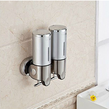 S-1000ml New arrival Luxurious High quality Bathroom Accessory Stainless Steel304+plastic Soap dispenser,wall mounted bath sets(China (Mainland))