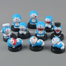 Free Shipping Anime Cartoon Doraemon Mini PVC Action Figure Toys Dolls Child Toys Gifts 10pcs/set DRFG024