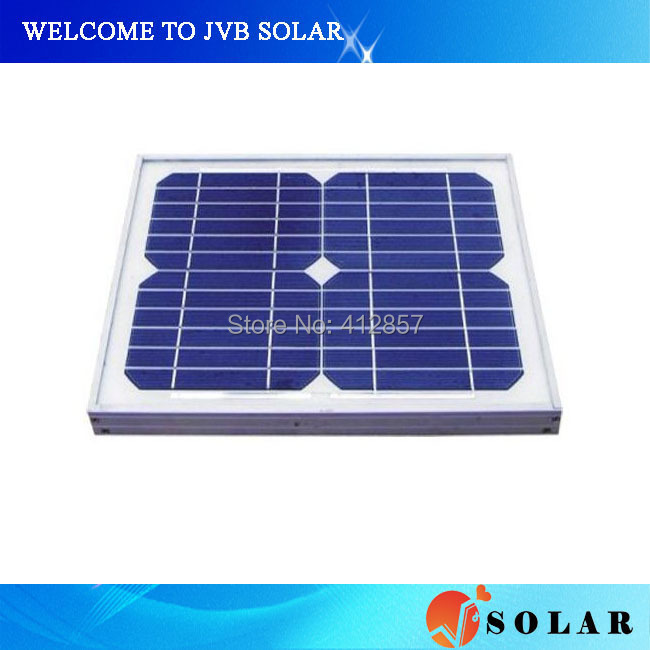 photovoltaic solar panel 15w with mono crystalline silicon cells kits glass laminated for home system use(China (Mainland))