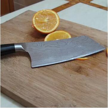 High quality Damascus pattern stainless steel kitchen knives light household vegetable slicer knife cleaver pattern chef knife(China (Mainland))
