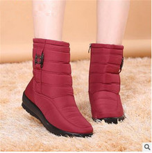 2016 autumn winter casual snow boots waterproof women ankle boots thermal flat slip-resistant fashion winter shoes woman boots(China (Mainland))