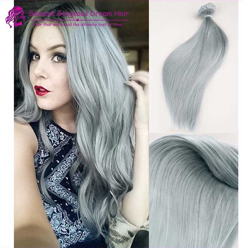 Buy top quality grade 8a virgin brazilian hair clip ins silver top quality grade 8a virgin brazilian hair clip ins silver grey clip in remy hair extensions pmusecretfo Choice Image
