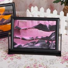 Free shipping Stereoscopic 3D sand painting art moving sand picture new unique home decorations ( 3 size to choose)(China (Mainland))