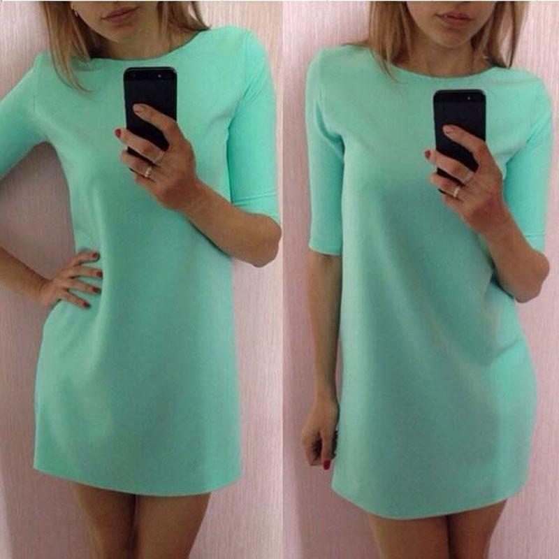 Ровные короткие платья