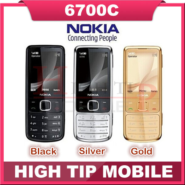hot sell Nokia Unlocked Original 6700C 6700 Classic Gold mobile Phones 5MP free leather case Russian Keyboard Free Dropshipping(China (Mainland))