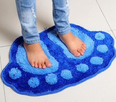 Bedroom living room floor sofa table rug mat bathroom bath carpet absorbent mats cartoon bathroom slip big feet Home Textile(China (Mainland))