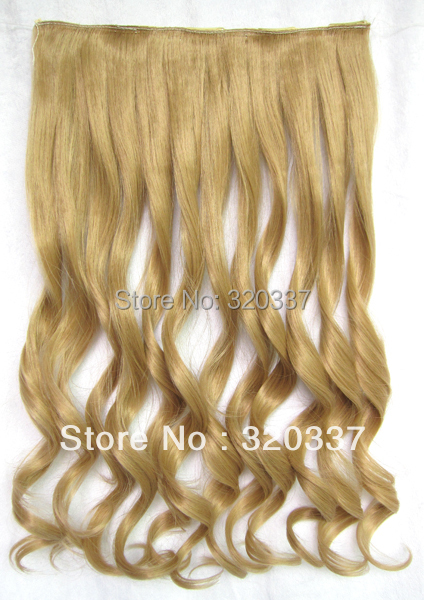 Heat Resistant Hairpieces Clips in Hair Synthetic Hair Extensions Curly Hair Wavy Hair Clip in Hair Extensions #18 Brown Hair