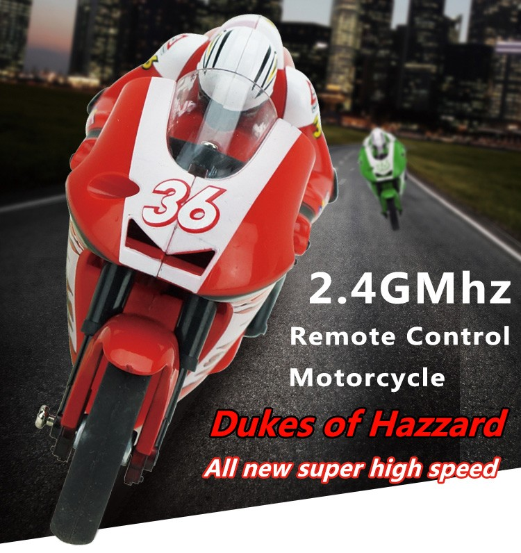 Create Toys 8012 2.4G 3CH 1/20 Scale Mini RC Motorcycle Remote Control Electronic Toy RTF Christmas Children Kids Gift