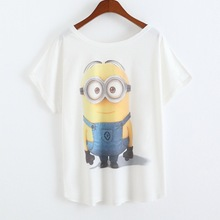 New arrival anime Minions costumes Spring summer t-shirt women crop topTops Summer Clothing Tees