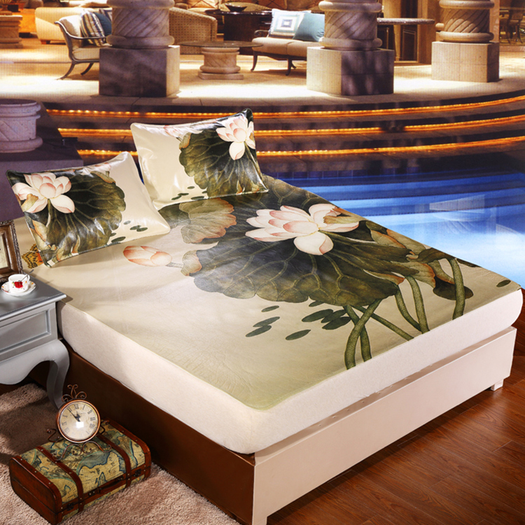 Luxury colorful bed sheet king queen twin size,High-quality flat sheets bed cow hides,20 pattern flowers bedding bedsheet(China (Mainland))