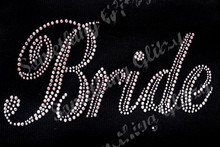 Bride Mega Bling Rhinestone Iron On Heat Transfer iron on crystal transfers design transfer on design hot fix rhinestone(China (Mainland))