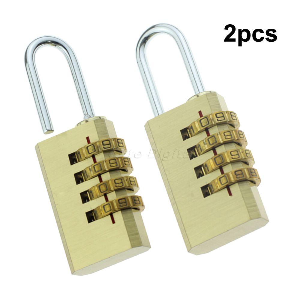Wholesale 2pcs/lot Travel Bag Lock Resettable Password Combination 4 Digits Number Password Code Padlock <br><br>Aliexpress