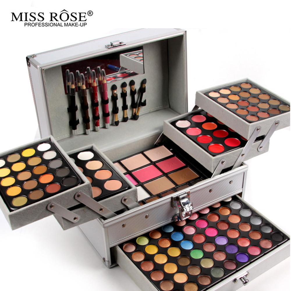 MISS ROSE Pro 132 Full Color Eye Shadow Plate Fashion Women Cosmetic Bag Makeup Palette Makeup Artist Dedicated Makeup Box(China (Mainland))
