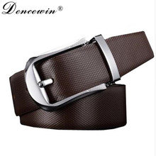Buy Fashion Men's Genuine Leather Belt Strap Designer Belts Automatic Personality Silver Buckle Cow Leather Mens Belts Luxury for $14.73 in AliExpress store