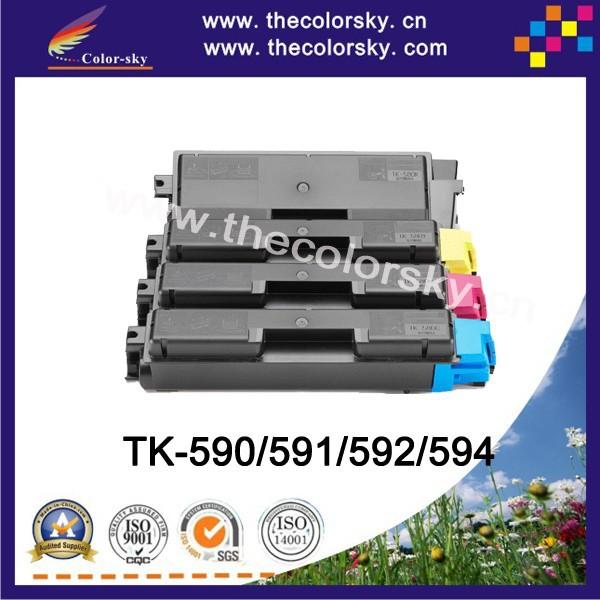 (CS-TK590) Color toner laserjet printer laser cartridge Kyocera TK 590 591 592 FS C2026MFP C2126MFP C5250DN (7k/5k pages)  -  The Sky 22 store