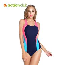 Actionclub Professional Sports Swimwear Women One Piece Racerback Swimsuit Monokini High Quality Brand Slim Bathing Suit WS463