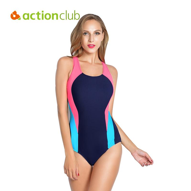 Actionclub Professional Sports Swimwear Women One Piece Racerback Swimsuit Monokini High Quality Brand Slim Bathing Suit WS463(China (Mainland))