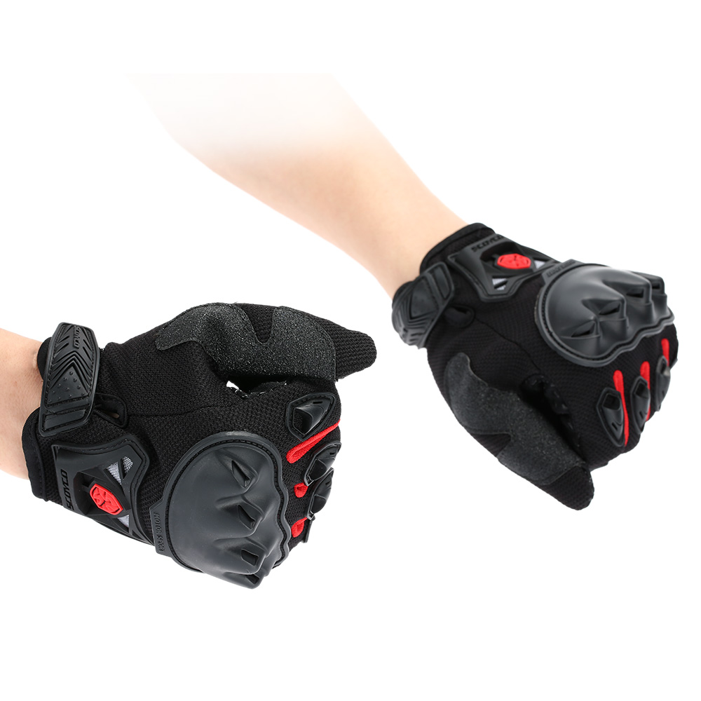 Scoyco MC29 Full Finger Motorcycle Cycling Racing Riding Protective Gloves Black Blue Red Green Optional Car Light Source