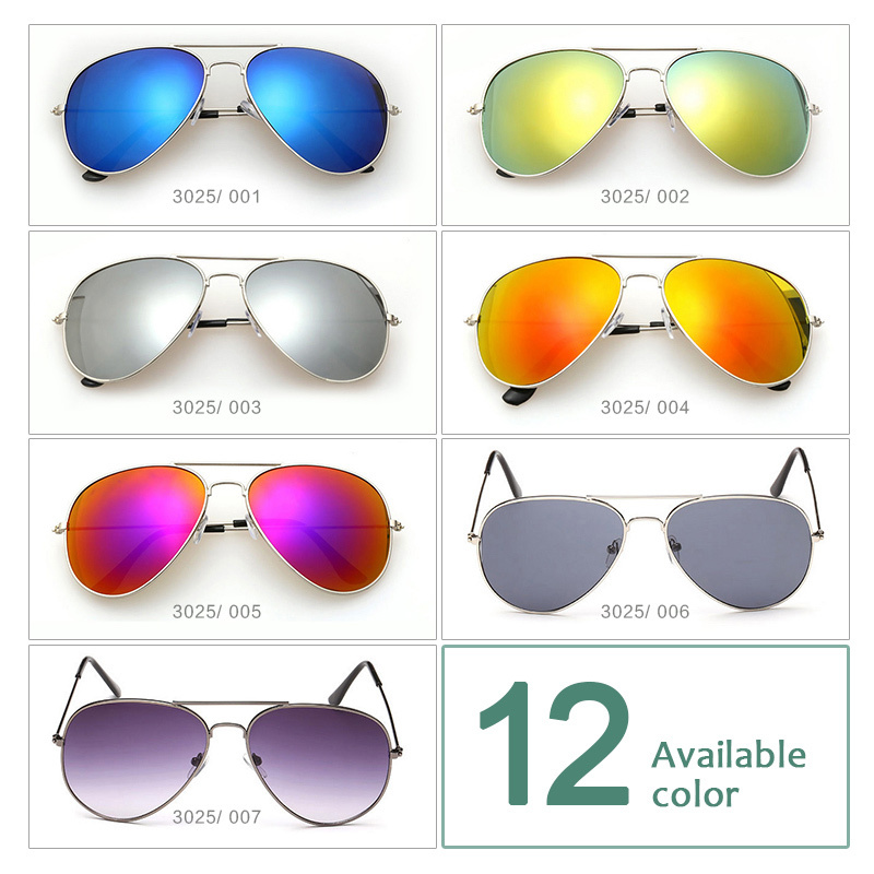 2015 Brand designer Aviator Sunglasses Female Oculos Pilot UV400 Points sun glass Men shades male fashion