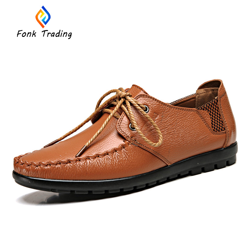 High-quality full genuine leather and comfortable driving shoes for men 8051(China (Mainland))