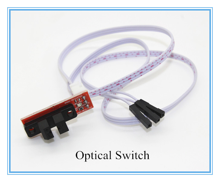 3d printer parts 6pcs/lot Optical Endstop Light Control Limit Optical Switch for 3D Printers RAMPS 1.4 with cable Free Shipping(China (Mainland))