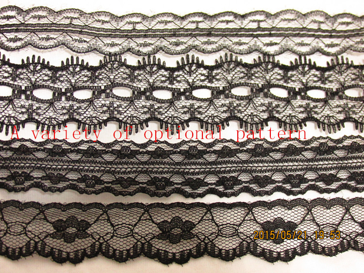 Free Shipping hot selling 50yards/lot Width 2-4CM many flower type inelastic Lace Fabric diy clothes fabric accessories(China (Mainland))