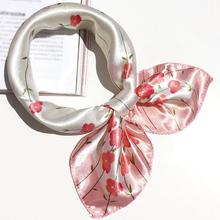 2016 Fashion Women Silk Scarf Printed Professional 50*50 Square Small Scarf Neckerchief Original Design Elegant Headscarf(China (Mainland))