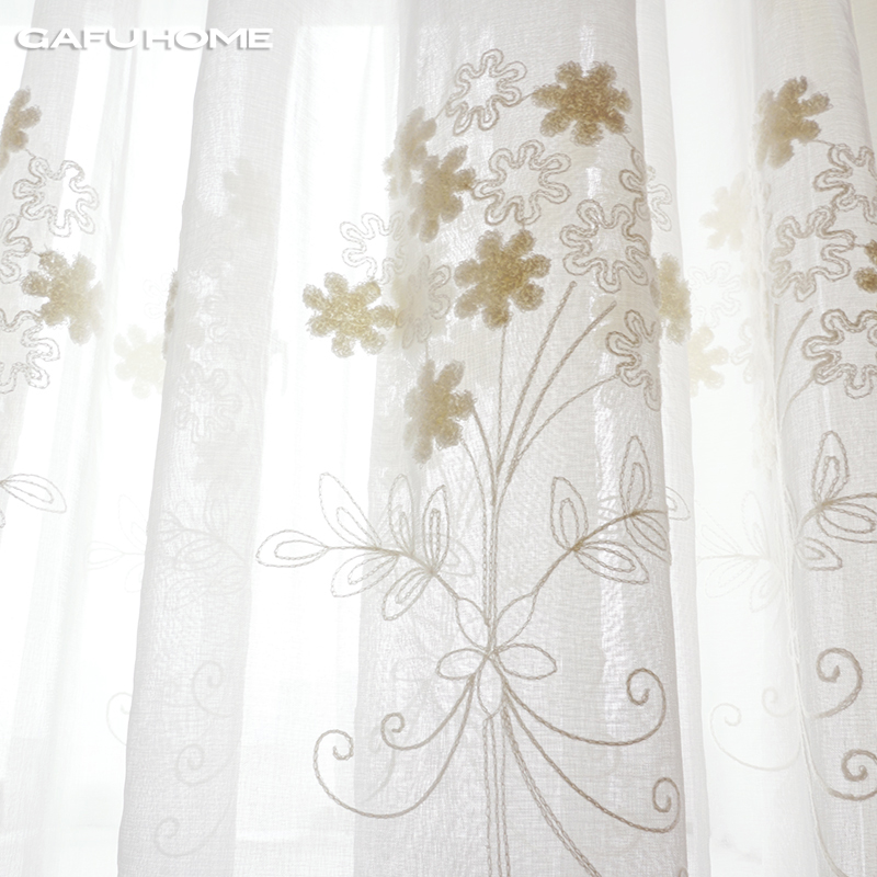 Popular Embroidered Sheer Curtains Buy Cheap Embroidered Sheer Curtains Lots From China