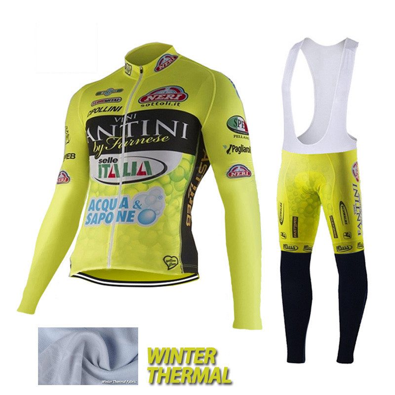 Fantini VINI ACQUA SAPONE cycling jersey winter thermal fleece cycling clothing mtb ropa ciclismo invierno hombre 2016 new set <br><br>Aliexpress