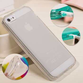 Transparent Silica Gel Protective Back Cover Case For iPhone 5 5S