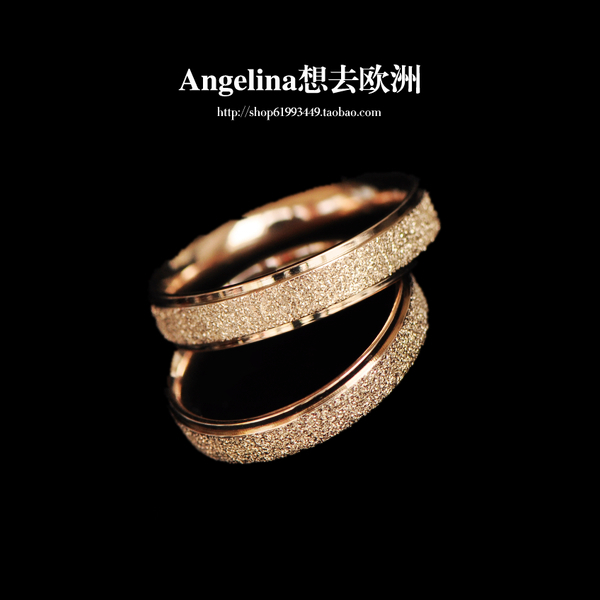 FREE SHIPPING~New Jewelry Titanium 18k Rose Gold/Silver Plated Shining Matte Surface Elegant Ring/Pinky(China (Mainland))