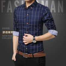 Buy Plaid Mens Shirts Fashion Style 100% Cotton 2017 Mens Dress Shirts Clothes Social Casual Shirts Men Brand Clothing M-5XL for $11.12 in AliExpress store