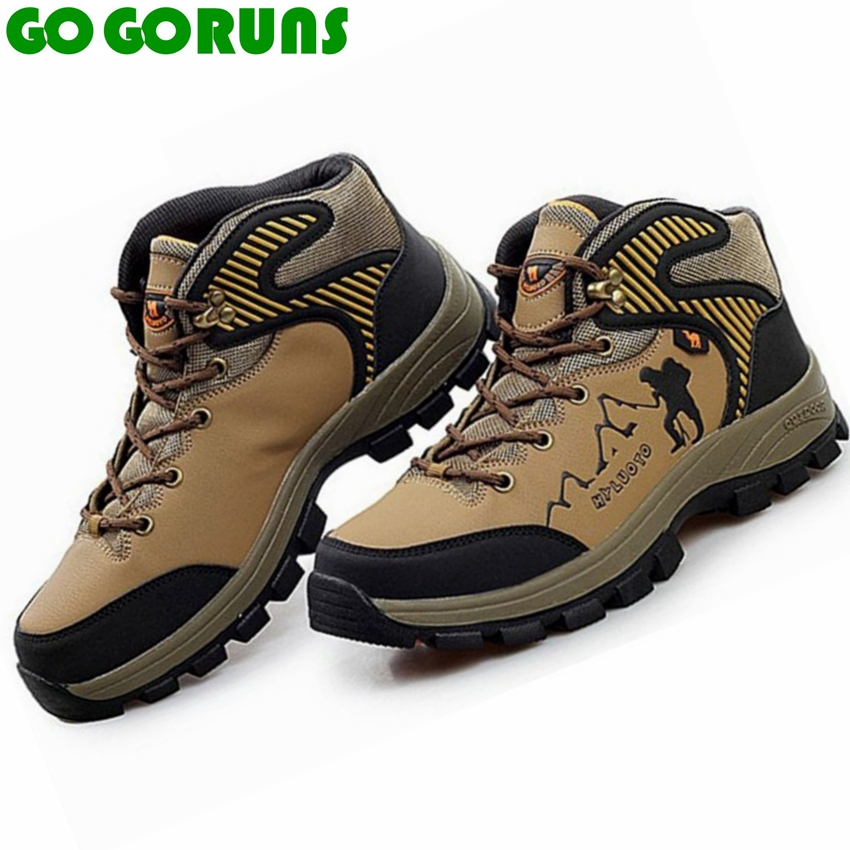 sport outdoor hiking shoes men waterproof hunting trekking breathable leather travel athletic walking shoes boots big size(China (Mainland))