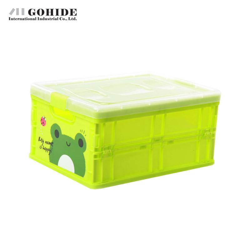 Gohide 1 pcs green Storage Box DIY Dawdler Retractable Storage Boxes With Lid Folding Storage Box Toy 21x15x10cm boxes(China (Mainland))