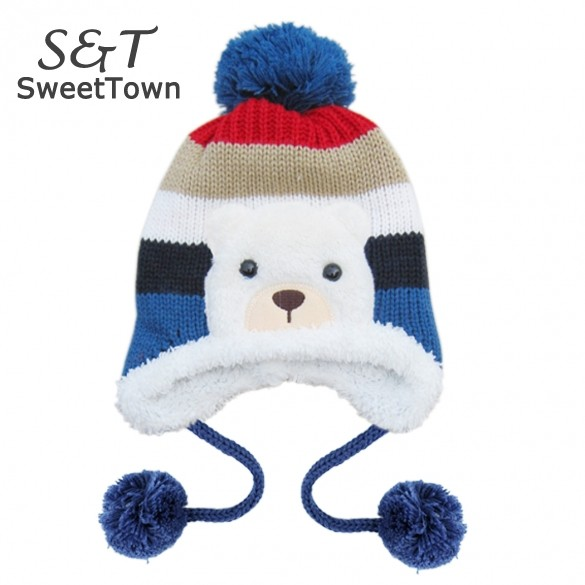 1Piece Free Shipping 4 Colors New Arrival kids Children Knitted Hats Warm Hat Baby Winter Crochet Hat Baby Caps 30(China (Mainland))