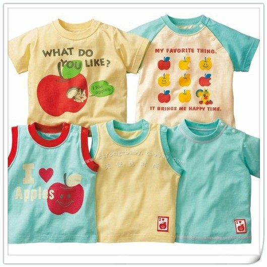 Summer male small children short-sleeve 100% short-sleeve cotton t-shirt