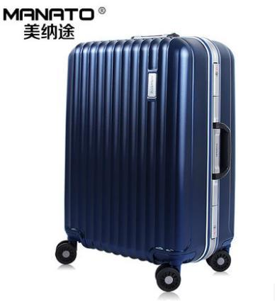 New! brand PC 20 inch 24 28 aluminum frame case rolling luggage suitcase draw bar box traveling trolley bag - LUGGAGE CASE HANGZHOU store
