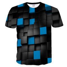 Новая мужская футболка с коротким рукавом, модная забавная футболка с 3D оцифровкой, женские футболки, качественная черная футболка красног...(China)