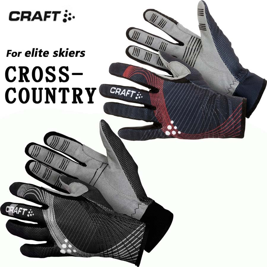 Craft Elite Cycling Bike Knitting Jersey mens Womens Gloves black/red Nwt
